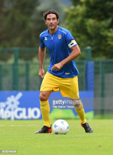 Alessandro Lucarelli in action during the preseason friendly match between Parma Calcio and Settaurense on July 26 2017 in Pinzolo near Trento Italy