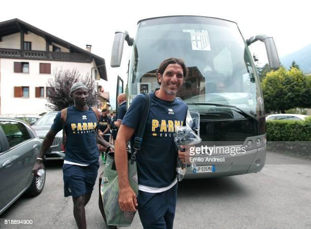 Alessandro Lucarelli of Parma Calcio 1913 arrives at Corona Hotel on July 19 2017 in Pinzolo near Trento Italy