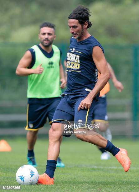 Alessandro Lucarelli of Parma Calcio 1913 in action during the Parma Calcio 1913 training session on July 20 2017 in Pinzolo near Trento Italy