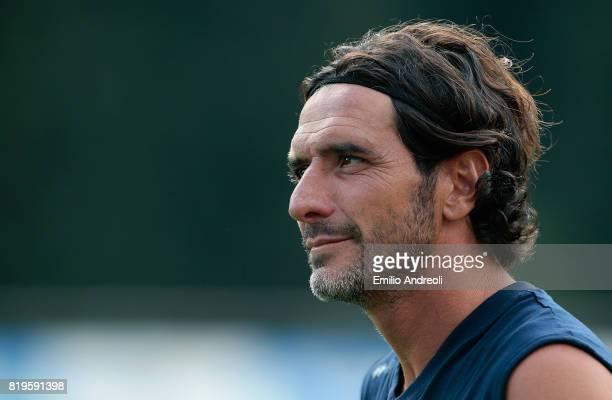 Alessandro Lucarelli of Parma Calcio 1913 looks on during the Parma Calcio 1913 training session on July 20 2017 in Pinzolo near Trento Italy