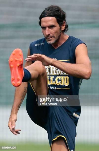 Alessandro Lucarelli of Parma Calcio 1913 trains during the Parma Calcio 1913 training session on July 20 2017 in Pinzolo near Trento Italy