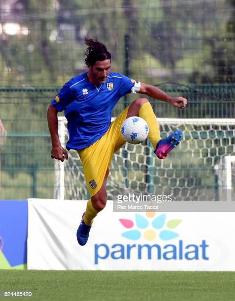 Alessandro Lucarelli of Parma Calcio in action during the preseason friendly match between Parma Calcio and Dro on July 30 2017 in Pinzolo near...