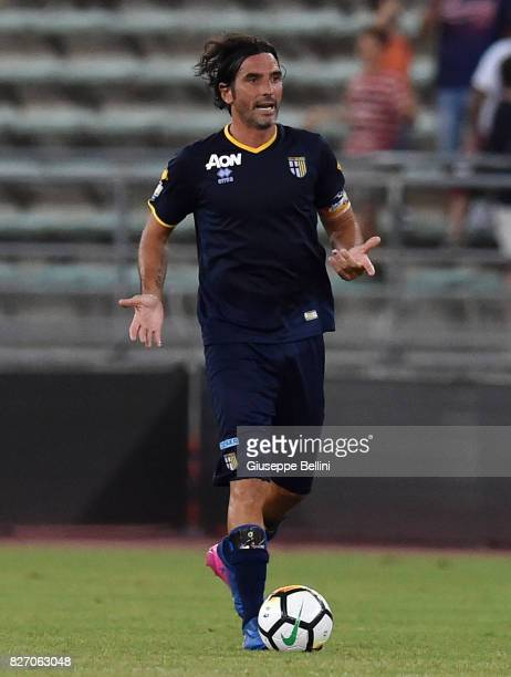 Alessandro Lucarelli of Parma Calcio in action during the TIM Cup match between AS Bari and Parma Calcio at Stadio San Nicola on August 6 2017 in...
