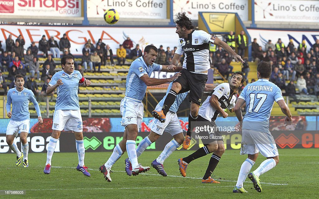 Alessandro Lucarelli of Parma FC scores his goal during the Serie A match between Parma FC and SS Lazio at Stadio Ennio Tardini on November 10 2013...
