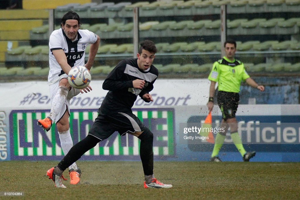 Alessandro Lucarelli of Parma in action during the Serie D match between Parma Calcio 1913 and Ribelle at Stadio Ennio Tardini on February 14, 2016 in Parma, Italy.