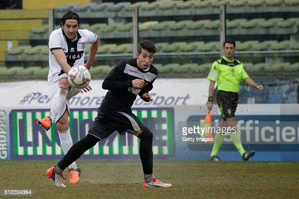 Alessandro Lucarelli of Parma in action during the Serie D match between Parma Calcio 1913 and Ribelle at Stadio Ennio Tardini on February 14 2016 in...