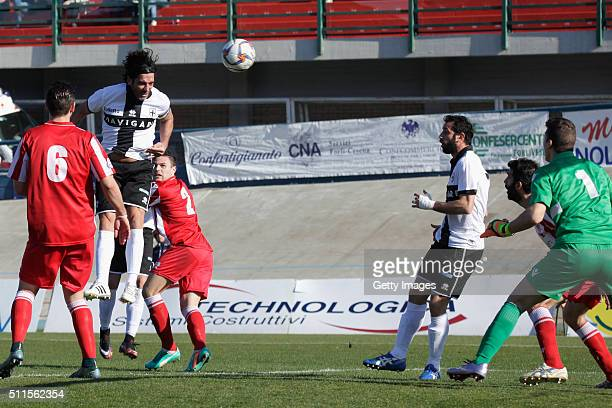 Alessandro Lucarelli of Parma in action durnig the Serie D match between Forli and Parma Calcio 1913 on February 21 2016 in Forli Italy