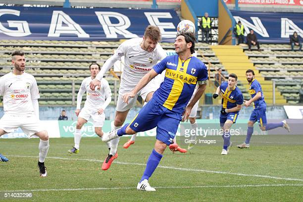Alessandro Lucarelli of Parma in action durnig the Serie D match between Parma Calcio 1913 and Virtus Castelfranco at Stadio Ennio Tardini on March 6...