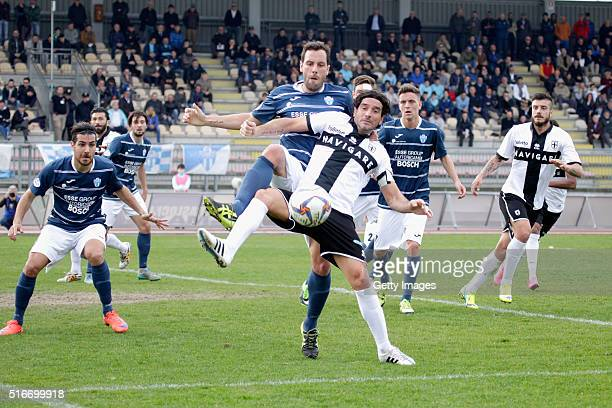 Alessandro Lucarelli of Parma in action durnig the Serie D match between Legnago and Parma Calcio 1913 on March 20 2016 in Legnago Italy