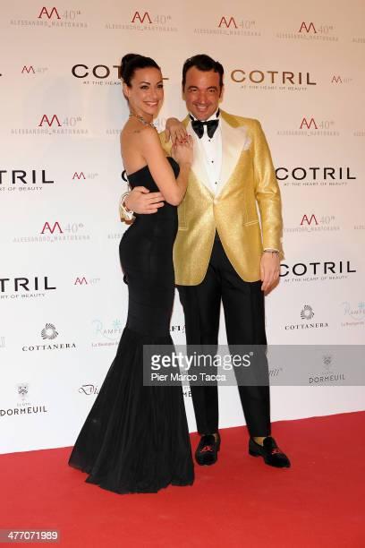 Alessandro Martorana and Melita Toniolo attend the Alessandro Martorana birthday party at Four Seasons Hotel on March 6 2014 in Milan Italy