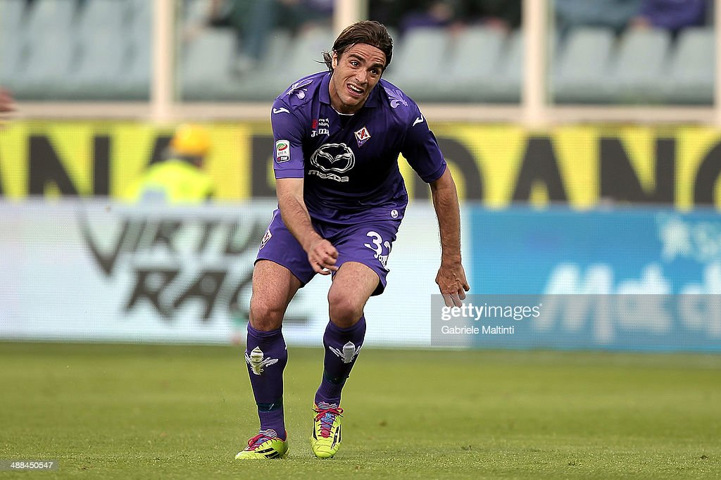 <a gi-track='captionPersonalityLinkClicked' href=/galleries/search?phrase=Alessandro+Matri&family=editorial&specificpeople=4501520 ng-click='$event.stopPropagation()'>Alessandro Matri</a> of ACF Fiorentina reacts during the Serie A match between ACF Fiorentina and US Sassuolo Calcio at Stadio Artemio Franchi on May 6, 2014 in Florence, Italy.