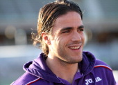 Alessandro Matri of Fiorentina look on during the Serie A match between Cagliari Calcio and ACF Fiorentina at Stadio Sant'Elia on February 1 2014 in...