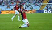 Alessandro Matri of Genoa CFC celebrates after scoring his team's third goal during the Serie A match between Udinese Calcio and Genoa CFC at Stadio...