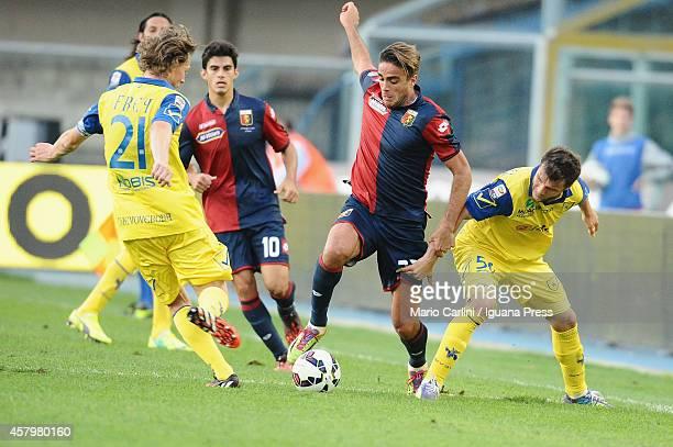 Alessandro Matri of Genoa CFC in action during the Serie A match between AC Chievo Verona and Genoa CFC at Stadio Marc'Antonio Bentegodi on October...