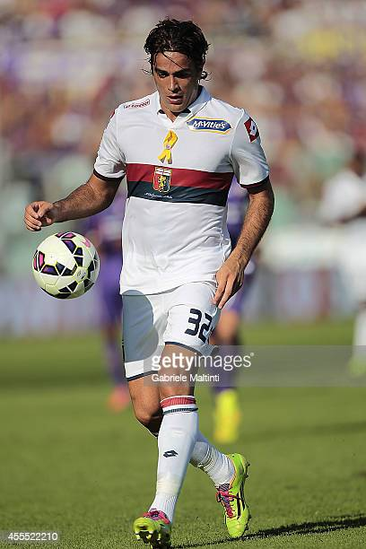 Alessandro Matri of Genoa CFC in action during the Serie A match between ACF Fiorentina and Genoa CFC at Stadio Artemio Franchi on September 14 2014...
