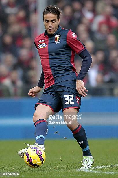 Alessandro Matri of Genoa CFC in action during the Serie A match between Genoa CFC and AS Roma at Stadio Luigi Ferraris on December 14 2014 in Genoa...