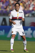 Alessandro Matri of Genoa CFC looks during the Serie A match between ACF Fiorentina and Genoa CFC at Stadio Artemio Franchi on September 14 2014 in...