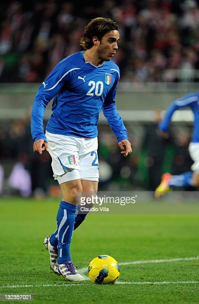 Alessandro Matri of Italy during the international friendly match between Poland and Italy on November 11 2011 in Wroclaw Poland