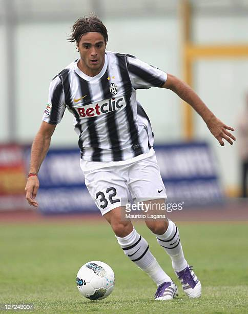 Alessandro Matri of Juventus during the Serie A match between Catania Calcio and Juventus FC at Stadio Angelo Massimino on September 25 2011 in...