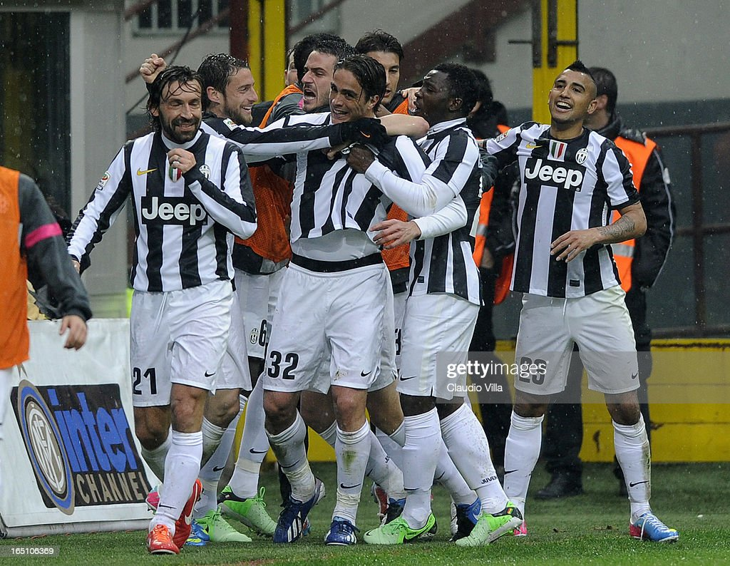 <a gi-track='captionPersonalityLinkClicked' href=/galleries/search?phrase=Alessandro+Matri&family=editorial&specificpeople=4501520 ng-click='$event.stopPropagation()'>Alessandro Matri</a> of Juventus FC #32 celebrates scoring the second goal during the Serie A match between FC Internazionale Milano and Juventus FC at San Siro Stadium on March 30, 2013 in Milan, Italy.