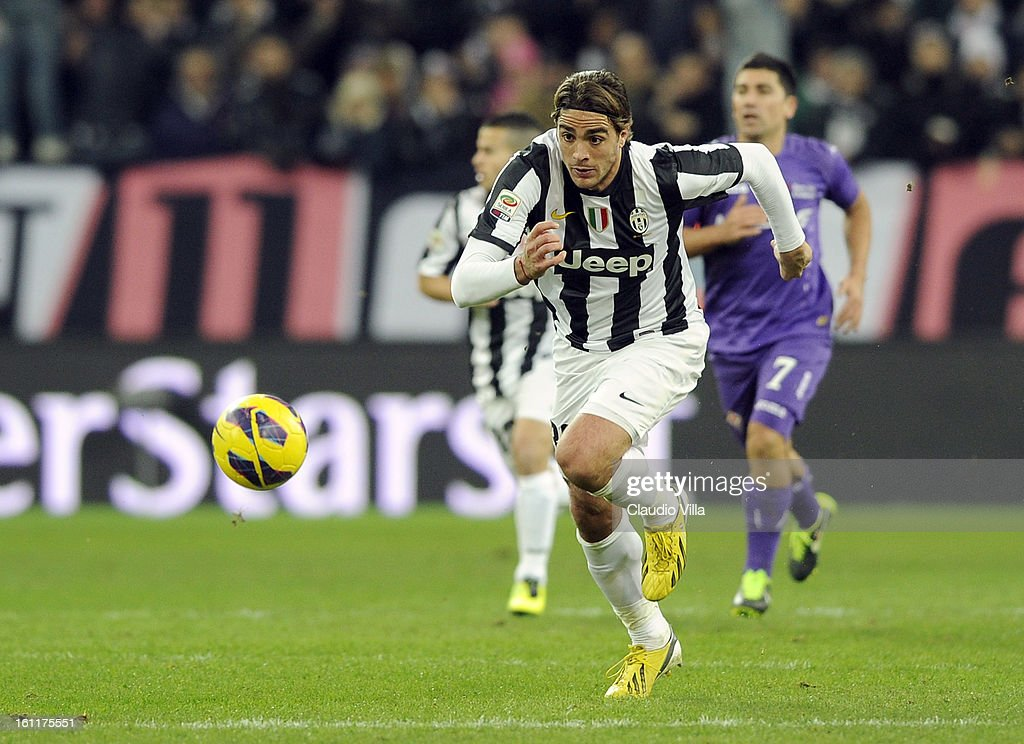 Alessandro Matri of Juventus FC #32 during the Serie A match between Juventus FC and ACF Fiorentina at Juventus Arena on February 9, 2013 in Turin, Italy.