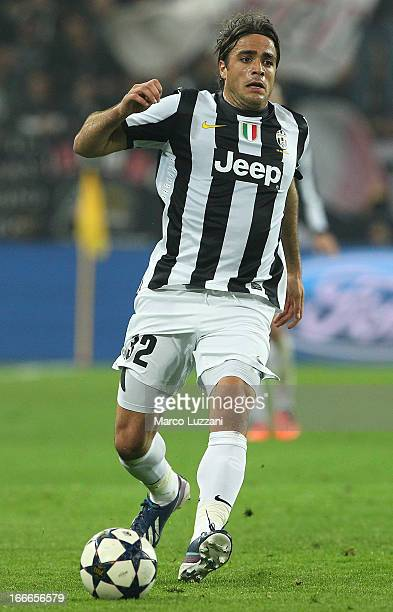 Alessandro Matri of Juventus FC in action during the UEFA Champions League quarterfinal second leg match between Juventus and FC Bayern Muenchen at...