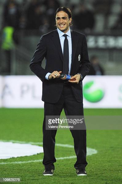 Alessandro Matri of Juventus FC looks on prior to the Serie A match between Juventus FC and AC Milan at Olimpico Stadium on March 5 2011 in Turin...