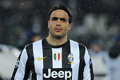 Alessandro Matri of Juventus looks on prior to the UEFA Champions League round of 16 second leg match between Juventus and Celtic at Juventus Arena...