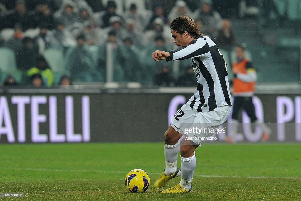 <a gi-track='captionPersonalityLinkClicked' href=/galleries/search?phrase=Alessandro+Matri&family=editorial&specificpeople=4501520 ng-click='$event.stopPropagation()'>Alessandro Matri</a> of Juventus scores a goal during the Serie A match between Juventus and Udinese Calcio at Juventus Arena on January 19, 2013 in Turin, Italy.