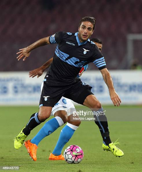 Alessandro Matri of Lazio during the Serie A match between SSC Napoli and SS Lazio at Stadio San Paolo on September 20 2015 in Naples Italy
