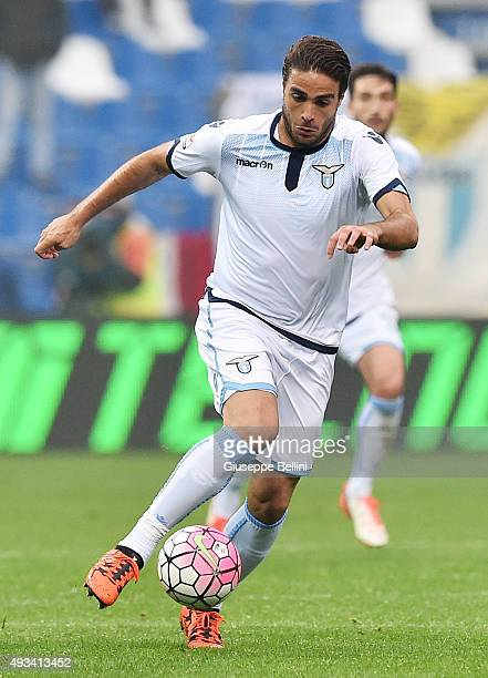 Alessandro Matri of Lazio in action during the Serie A match between US Sassuolo Calcio and SS Lazio at Mapei Stadium Citta del Tricolore on October...