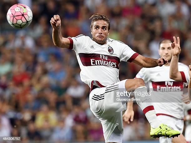 Alessandro Matri of Milan in action during the TIM preseason tournament match between AC Milan and US Sassuolo Calcio at Mapei Stadium Città del...