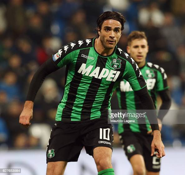 Alessandro Matri of Sassuolo during the Serie A match between US Sassuolo and Empoli FC at Mapei Stadium Citta' del Tricolore on December 4 2016 in...