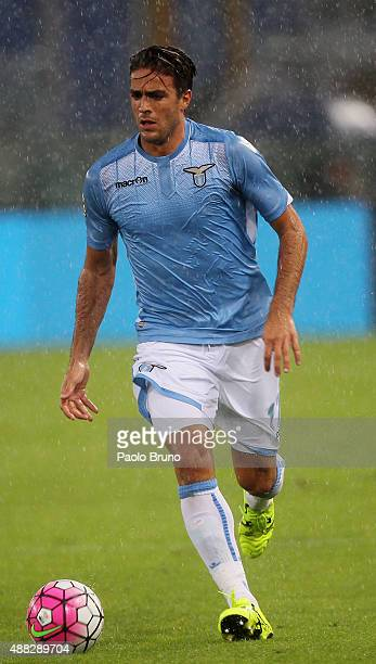 Alessandro Matri of SS Lazio in action during the Serie A match between SS Lazio and Udinese Calcio at Stadio Olimpico on September 13 2015 in Rome...