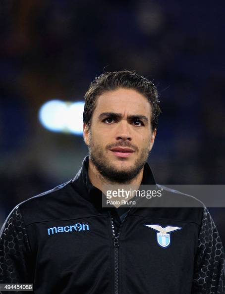 Alessandro Matri of SS Lazio looks on during the UEFA Europa League group G match between SS Lazio and Rosenborg BK at Stadio Olimpico on October 22...