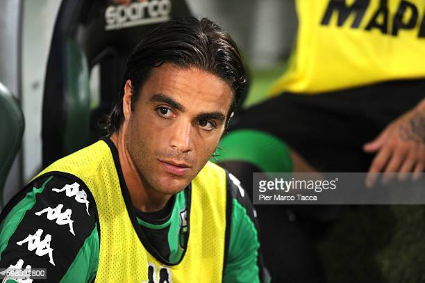 Alessandro Matri of US Sassuolo looks during the Serie A match between US Sassuolo and Pescara Calcio at Mapei Stadium Citta' del Tricolore on August...