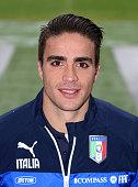Alessandro Matri poses prior to the Italy Training Session at Campo Sportivo Vismara on November 17 2014 in Milan Italy