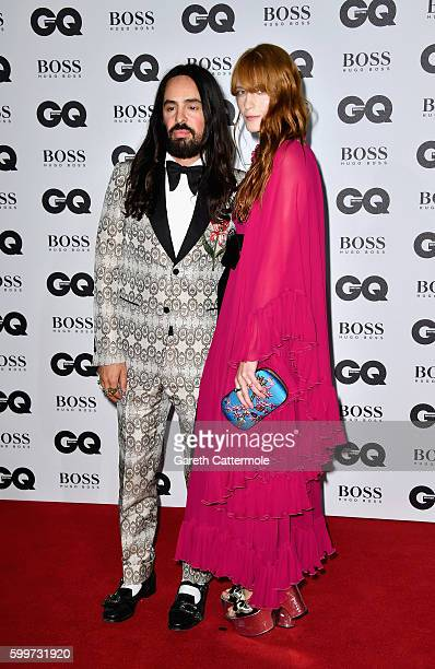 Alessandro Michele and Florence Welch arrive for GQ Men Of The Year Awards 2016 at Tate Modern on September 6 2016 in London England