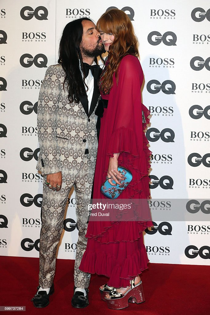Alessandro Michele and Florence Welch arrive for GQ Men Of The Year Awards 2016 at Tate Modern on September 6, 2016 in London, England.