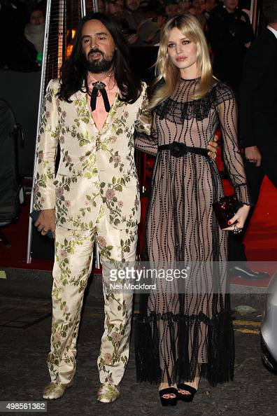 Alessandro Michele and Georgia May Jagger attend the British Fashion Awards 2015 at London Coliseum on November 23 2015 in London England