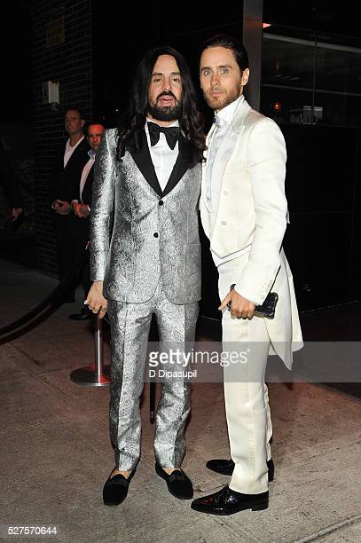 Alessandro Michele and Jared Leto are seen arriving at The Standard High Line on May 2 2016 in New York City