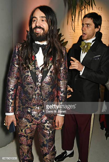 Alessandro Michele and Jared Leto attend The Fashion Awards 2016 after party hosted by The British Fashion Council at 180 The Strand on December 5...