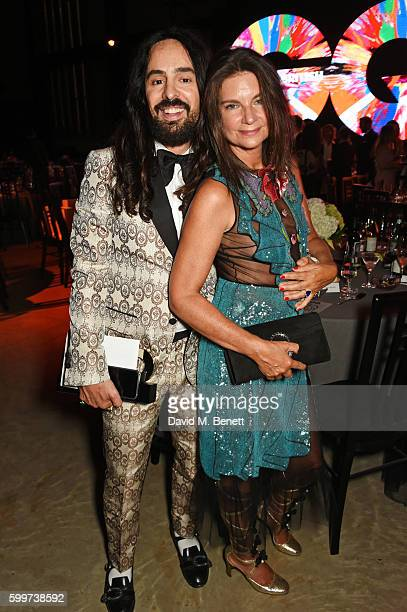 Alessandro Michele and Natalie Massenet attend the GQ Men Of The Year Awards 2016 after party at the Tate Modern on September 6 2016 in London England