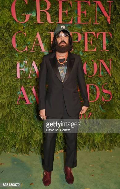 Alessandro Michele Gucci Creative Director attend the Green Carpet Fashion Awards Italia at Teatro Alla Scala on September 24 2017 in Milan Italy