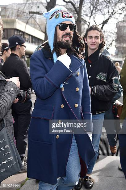 Alessandro Michele is seen arriving at Balenciga Fashion Show during Paris Fashion Week Womenswear Fall Winter 2016/2017 on March 6 2016 in Paris...