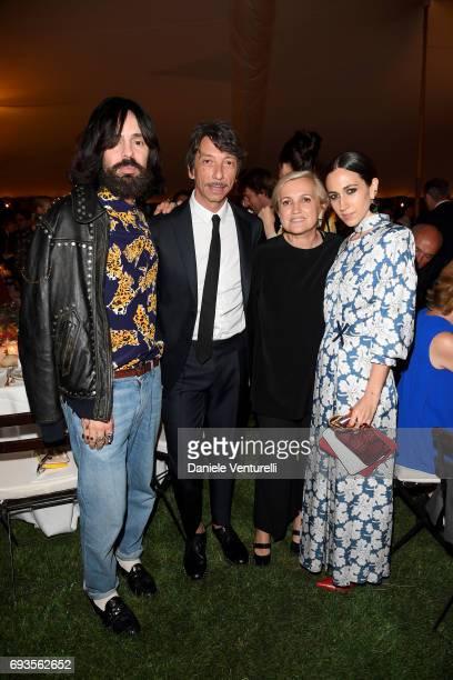 Alessandro Michele Pierpaolo Piccioli Silvia Venturini Fendi and Delfina Delettrez Fendi attend McKim Medal Gala at Villa Aurelia on June 7 2017 in...