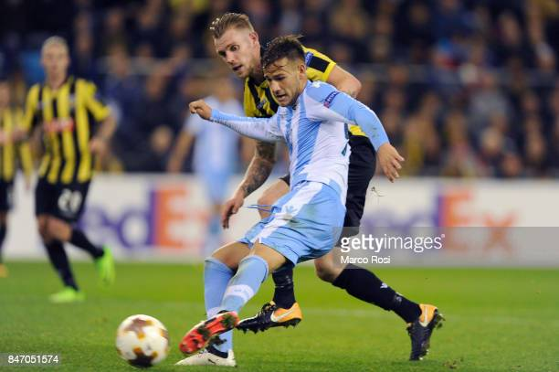 Alessandro Murgia of SS Lazio scores a third goalduring the UEFA Europa League group K match between Vitesse and SS Lazio at Gelredome on September...
