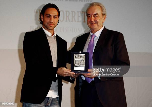 Alessandro Nesta and Bruno Pizzul attend 'La Torretta' Sport Awards on November 30 2009 in Sesto San Giovanni Italy