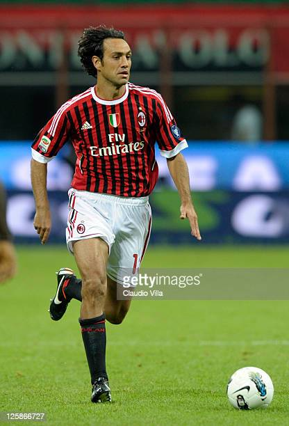 Alessandro Nesta of AC Milan during the Serie A match between AC Milan and Udinese Calcio at Stadio Giuseppe Meazza on September 21 2011 in Milan...