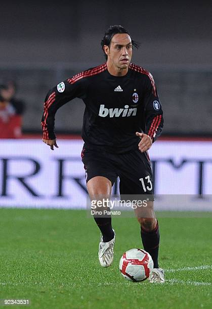 Alessandro Nesta of AC Milan in action during the Serie A match between AC Chievo Verona and AC Milan at Stadio Marcantonio Bentegodi on October 25...